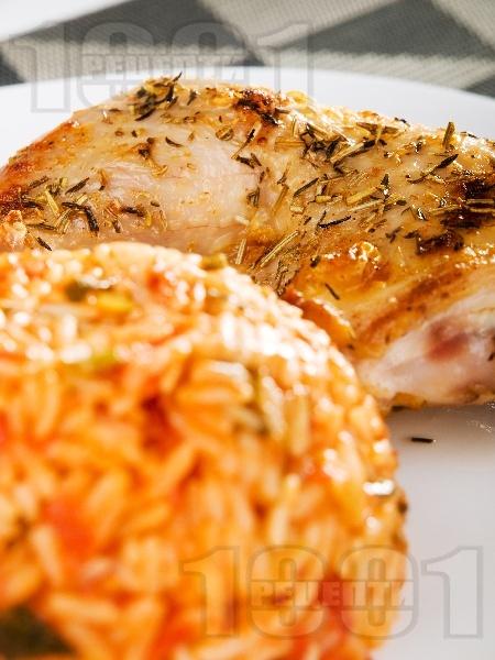 Ориз с домати и пресен лук - снимка на рецептата